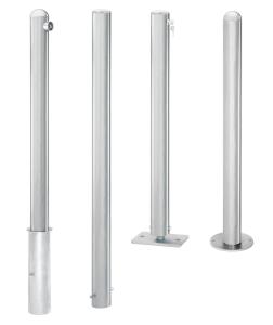 Absperrpfosten -Steel Line- Ø 76 mm aus Edelstahl, ortsfest, herausnehmbar oder umlegbar
