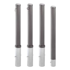 Absperrpfosten -Steel Line- Ø 95 mm aus Stahl, zum Einbetonieren, herausnehmbar oder feststehend
