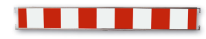 Absperrschranke -Cordon light- gemäß TL, Höhe 250 mm, rot / weiß, versch. Längen (Länge: 1,60 m (Art.Nr.: 33162))
