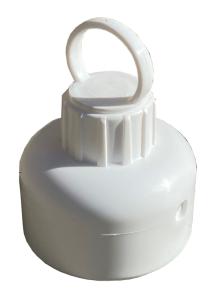 Adapter mit Schrauböse für Absperrpfosten -Flexi- aus PP (Farbe: weiß (Art.Nr.: 41222kw))