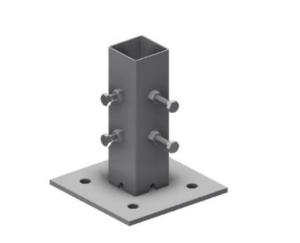 Adapterplatte für Beton-Aufstellvorrichtung (Ausführung: Adapterplatte für Beton-Aufstellvorrichtung (Art.Nr.: 3f120-1))
