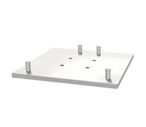 Adapterplatte für Gitterrohrmast und Beton-Aufstellvorrichtung (Ausführung: Adapterplatte für Gitterrohrmast und Beton-Aufstellvorrichtung (Art.Nr.: 3f120-2))