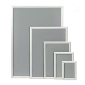 Alu-Klapprahmen, Modell -CNS- und -CRS- Rahmenbreite 24 mm (Modell/Außenmaß (BxH)/Poster-Format/Ecken:  <b>CNS</b> 174x239mm<br>DIN A5/spitze Ecken (Art.Nr.: 24419))