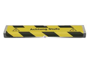 Aluminium-Kantenprofile für Treppenstufen zur Schraubmontage (Farbe Antirutschbelag/Text: schwarz/ <b>ohne Text</b> (Art.Nr.: 90.1496))
