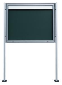 Aluminium-Ständerpaar für -Infomedia M / SM / VB / CL-, aus Alurechteckrohr 100 x 40 mm (Befestigung/Farbe: zum Einbetonieren/<br>silber eloxiert/<br>Länge 2800 mm (Art.Nr.: 20210))
