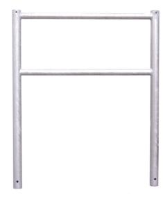 Anlehnbügel / Absperrbügel -Borkum- Ø 60 mm aus Stahl, Höhe 1300 mm, zum Einbetonieren