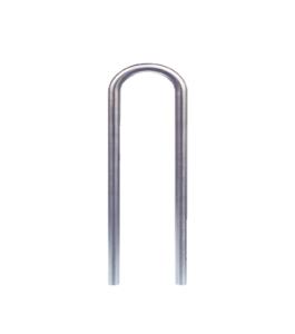 Anlehnbügel / Absperrbügel -Usedom- aus Stahl, Ø 76 mm, Breite 400 mm, zum Einbetonieren oder Aufdübeln, verschiedene Höhen