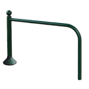 Anlehnbügel -Bowl- Ø 76 mm aus Stahl, Höhe 780 mm, zum Einbetonieren