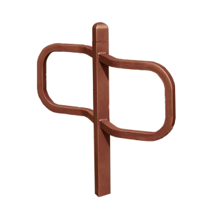 Anlehnbügel -Time- 70 x 70 mm aus Stahl, Höhe 1100 mm, zum Einbetonieren