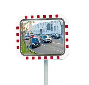 Anti-Frost /Anti-Beschlag Spiegel -DURABEL IceFree ECO-, aus Edelstahl, ohne elektr. Einrichtung (Maße (BxH)/max. Beobachterabstand: 600 x 450 mm /  <b>6m</b> (Art.Nr.: 36741))
