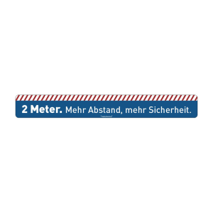 Antirutsch-Bodenmarkierung für Wartebereiche -2 Meter. Mehr Abstand, mehr Sicherheit.- (Ausführung: Antirutsch-Bodenmarkierung für Wartebereiche -2 Meter. Mehr Abstand, mehr Sicherheit.- (Art.Nr.: 90.5582))