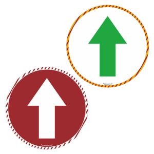 Antirutsch-Bodenmarkierung für Wartebereiche -Richtungspfeil-, weiß / grün oder rot / weiß (Farbe: weiß/grün (Art.Nr.: 90.5584))