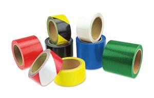 Antirutsch-Bodenmarkierungsband Plus -WT-5420-, Länge 10 m, Breite 50, 75 oder 100 mm (Breite/Farbe: 50 mm /  <b>gelb</b> (Art.Nr.: 39317))