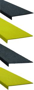 Antirutsch-Kantenprofil aus GFK, schraubbar (Farbe/Rutschhemmnung: schwarz / medium (Art.Nr.: dm2380))