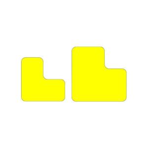 Antirutsch-Lagerplatzkennzeichnung -WT-5610- L-Stücke, für Innen- und Außenbereich, VPE 25 Stk. (Maße (BxL)/Farbe/Menge: 50 x 100 mm /  <b>gelb</b> / VPE 25 Stk. (Art.Nr.: 39252))
