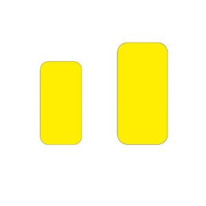 Antirutsch-Lagerplatzkennzeichnung -WT-5610- Längsstücke, für Innen- u. Außenbereich, VPE 25 Stk. (Maße (BxL)/Farbe/Menge: 50 x 100 mm /  <b>gelb</b> / VPE 25 Stk. (Art.Nr.: 39260))
