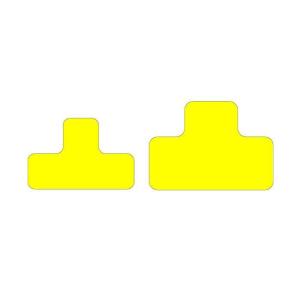 Antirutsch-Lagerplatzkennzeichnung -WT-5610- T-Stücke, für Innen- und Außenbereich, VPE 25 Stk. (Maße (BxL)/Farbe/Menge: 50 x 100 mm /  <b>gelb</b> / VPE 25 Stk. (Art.Nr.: 39256))