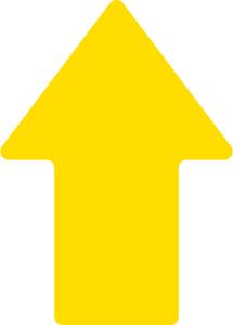 Antirutsch-Piktogramm -WT-5811- Pfeil, retroreflektierend und rutschhemmend, VPE 10 Stk. (Farbe/Menge: gelb / VPE 10 Stk. (Art.Nr.: 23390))