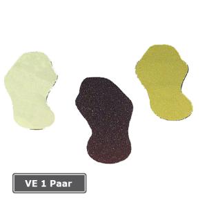 Antirutschbelag m2 Schuhform, VE 1 Paar (Farbe/Qualität/Verpackungseinheit: gelb/Typ 1/selbstklebend<br>für glatte Böden/VE 1 Paar (Art.Nr.: 90.9351))