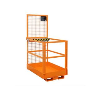 Arbeitsbühne -Typ MB-D-L- aus Stahl, Einfahrtaschen an der schmalen Seite (Farbe/Gewicht: RAL 2000 gelborange / 120 kg (Art.Nr.: 38378))