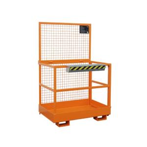 Arbeitsbühne -Typ MB-D- aus Stahl, Einfahrtaschen an der breiten Seite (Farbe/Gewicht: RAL 2000 gelborange / 120 kg (Art.Nr.: 38375))