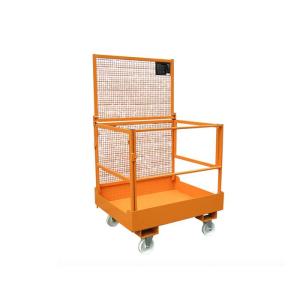 Arbeitsbühne -Typ MB-F- aus Stahl, faltbar, Einfahrtaschen an der breiten Seite (Farbe/Gewicht: RAL 2000 gelborange / 120 kg (Art.Nr.: 38381))