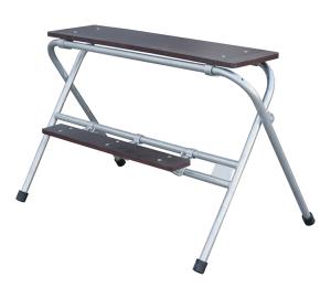 Arbeitstritt aus Stahl, verzinkt, zusammenklappar, verschiedene Breiten und Höhen (Stufen/Breite/Höhe: 2 Stufen/0,60m/0,70m (Art.Nr.: 10151v))