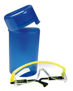 Aufbewahrungsbox für Schutzbrillen, inkl. Gürtelclip (Ausführung: Aufbewahrungsbox für Schutzbrillen, inkl. Gürtelclip (Art.Nr.: gh1235))