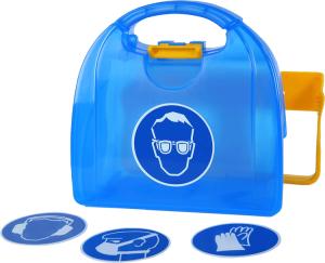 Aufbewahrungsbox für persönliche Schutzausrüstung -Piccolo- (Modell: Neutral (ohne Symbol) (Art.Nr.: 35880))