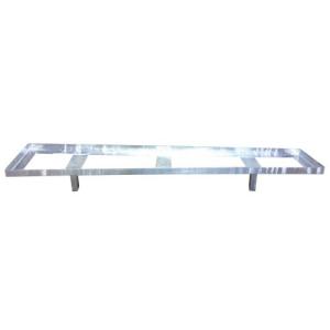 Aufsatzteil für Lager- und Transporttraverse für Schrankenzäune kombiniert mit Fußplatten (Ausführung: Aufsatzteil für Lager- und Transporttraverse für Schrankenzäune kombiniert mit Fußplatten (Art.Nr.: 32000