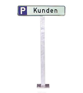Aufstellpfosten für Parkplatzschilder zum Aufdübeln (Ausführung: Aufstellpfosten für Parkplatzschilder zum Aufdübeln (Art.Nr.: 90.5567))