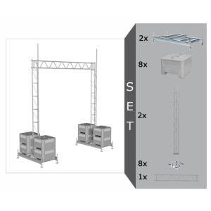 Aufstellvorrichtungen mit Gitterrohrmast und Stahl-Gitterträger für Brücke, in versch. Längen (Länge/Gewicht: Stahl-Gitterträger  <b>5200 mm</b> / 48 kg (Art.Nr.: 35350-setb5))