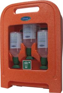Augenspülstation -Actiomedic® EYECARE Medi2protect-, zur Wandmontage oder für den mobilen Einsatz (Inhalt: 3x 500 ml Natriumchloridlösung, 0,9% (Art.Nr.: 34922))