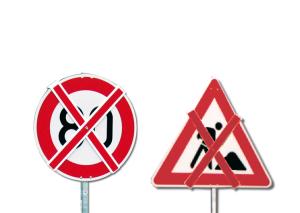 Auskreuzung Typ 1, für Verkehrszeichen Größe 2, Folientyp RA3, Länge 600 mm (Ausführung: Auskreuzung Typ 1, für Verkehrszeichen Größe 2, Folientyp RA3, Länge 600 mm (Art.Nr.: 34016))