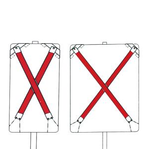 Auskreuzung Typ 3, für Verkehrszeichen nach Zeichen 500 und Wegweiser bis 1600x1250 mm, Folie RA3 (Ausführung: Auskreuzung Typ 3, für Verkehrszeichen nach Zeichen 500 und Wegweiser bis 1600x1250 mm, Folie RA3 (Art.Nr.: 34023))