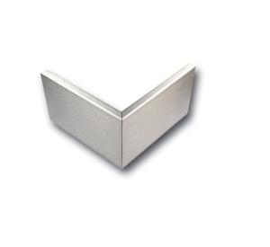 Außeneckstück für Wandschutzprofile aus Edelstahl (geschliffen), Höhe 150 mm (Ausführung: Außeneckstück für Wandschutzprofile aus Edelstahl (geschliffen), Höhe 150 mm (Art.Nr.: 34635))