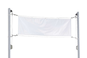 Bannerrahmen -Claim- aus Aluminium, Höhe 4 - 7 m (Höhe über Flur: 4 m (Art.Nr.: 36058))