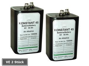 Batterie -Konstant 45- für Elektronenblitzleuchte Star-Flash LED 160, VE 2 Stück (Ausführung: Batterie -Konstant 45- für Elektronenblitzleuchte Star-Flash LED 160, VE 2 Stück (Art.Nr.: 90.5057))