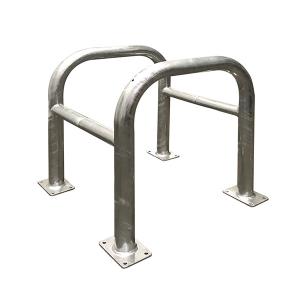 Baum- und Säulenschutz -Solid-, Ø 60 mm aus Stahl, zweiteilig, zum Aufdübeln, Höhe 650 oder 800 mm