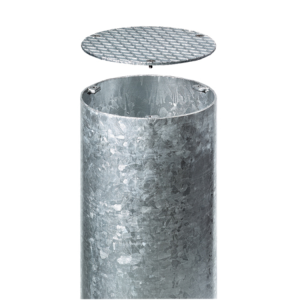 Baumständer aus Stahl, Ø 210 bis 400 mm, inkl. Deckel (Modell/Ø Innen/Tiefe/Wandstärke:  <b>BST 02</b> / Ø 210 mm<br>750 mm / 4,5 mm (Art.Nr.: 13694))