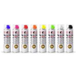 Baustellen-Markierfarbe -trig-a-cap-, 500 ml, langfristig, schnelltrocknend, VPE 12 Dosen (Farbe/Verpackungseinheit: pink fluoreszierend / VPE 12 Dosen (Art.Nr.: 34845))
