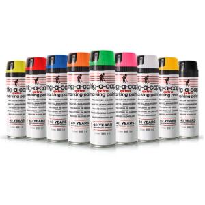 Baustellen-Markierfarbe -trig-a-cap extra-, 500 ml, langfristig, schnelltrocknend, VPE 12 Dosen (Farbe/Menge: gelb fluoreszierend<br>VPE 12 Dosen (Art.Nr.: 34834))