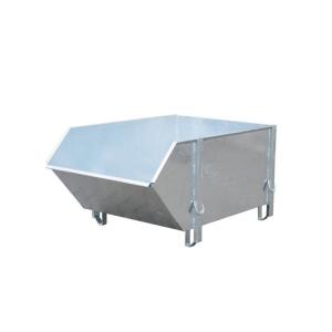 Baustoff-Behälter -Typ BBG 100-, aus glattem Stahlblech (Farbe: RAL 2000 gelborange (Art.Nr.: 38801))