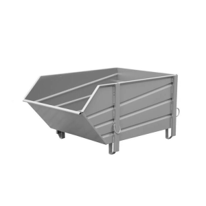 Baustoff-Behälter -Typ BBP 100-, aus profiliertem Stahlblech (Farbe: RAL 2000 gelborange (Art.Nr.: 38805))