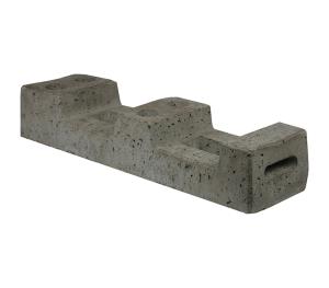 Bauzaunfuß aus Beton, 4 Aufnahmen, 25 kg (Ausführung: Bauzaunfuß aus Beton, 4 Aufnahmen, 25 kg (Art.Nr.: 3f101))