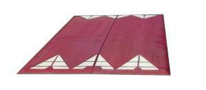 Berliner Kissen Komplett-Set, 2000 x 1800 x 65 mm, <,30 km / h, rotbraun oder schwarz (Farbe: schwarz (Art.Nr.: 35991))