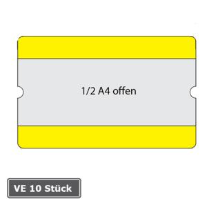 Beschriftungstaschen -WT-5118-, 1 / 2 DIN A4, staplerüberfahrbar, VE 10 Stück