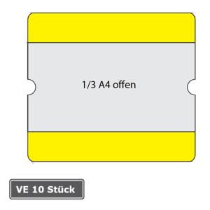 Beschriftungstaschen -WT-5118-, 1 / 3 DIN A4, staplerüberfahrbar, VE 10 Stück