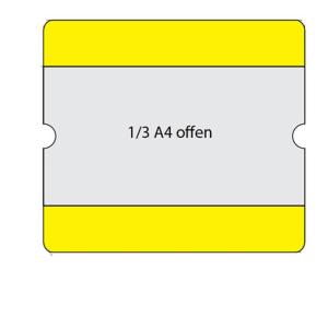 Beschriftungstaschen -WT-5118-, 1 / 3 DIN A4, staplerüberfahrbar, VPE 10 Stk.
