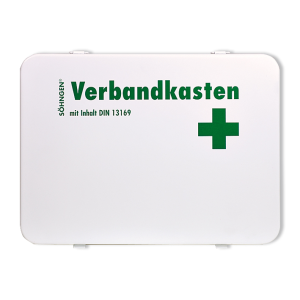 Betriebsverbandkasten -Oslo-, Inhalt nach DIN 13169, wahlweise mit Wandhalterung (Modell: ohne Wandhalterung (Art.Nr.: st3002))